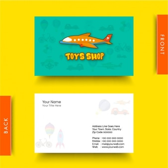Business card for toy shop