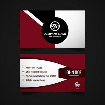 Business card in garnet tones