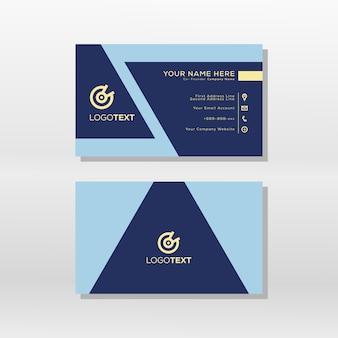 Шаблон геометрической основной формы визитной карточки