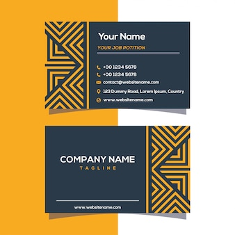 Business card geometric design