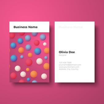 ビジネスカード幾何学