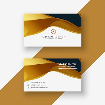Business card   in golden style