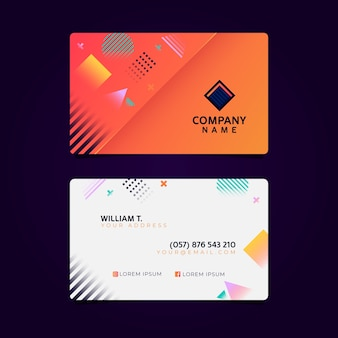 Business card in gradient style