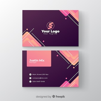 Business card gradient template