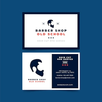 Business card for hair cut and shaves