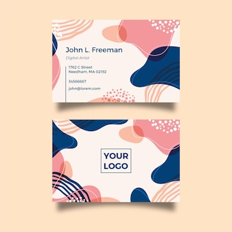 Business card hand painted