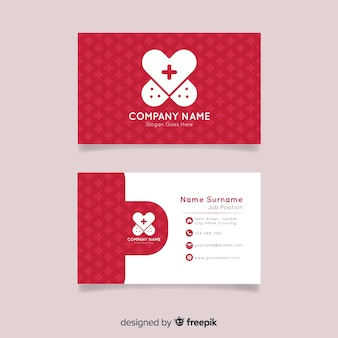 Business card for hospital or doctor in flat style