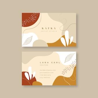 Визитная карточка в абстрактном стиле окрашены