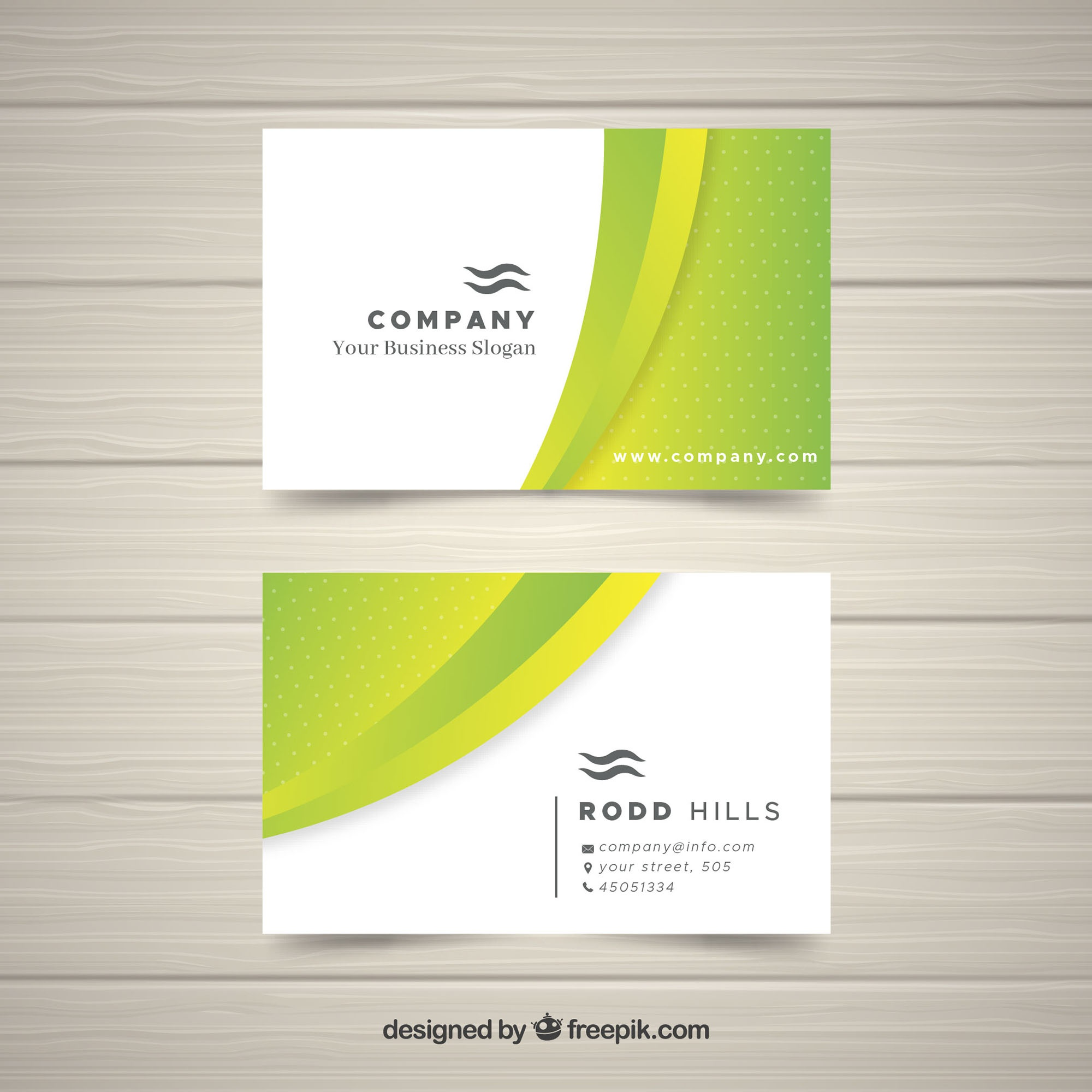 Business card in flat style