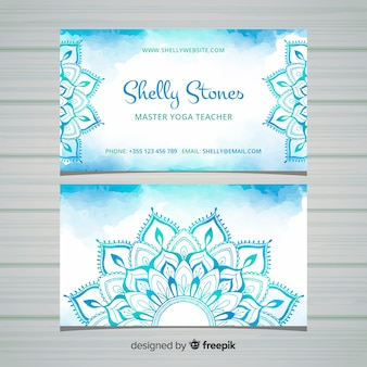 Business card in mandala style