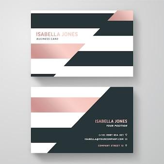 Визитная карточка в минималистичном дизайне