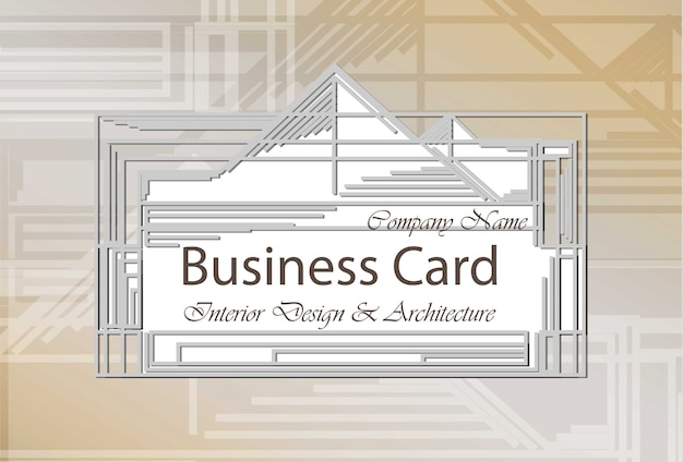 Business card interior design and architecture.