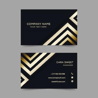 Business card luxury geometric template