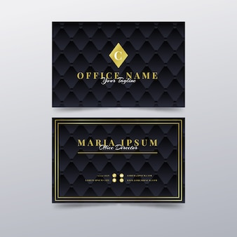 Business card luxury template