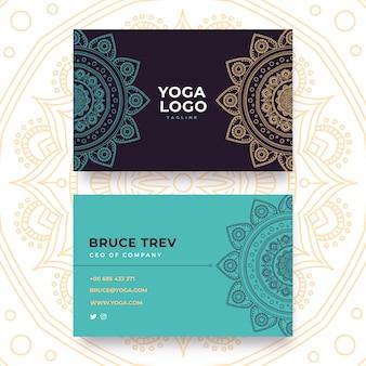 Business card mandala template