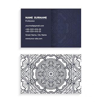 Business card mandala