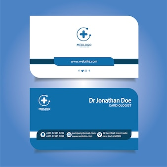 Business card for medical professional, doctors, dentists free vector