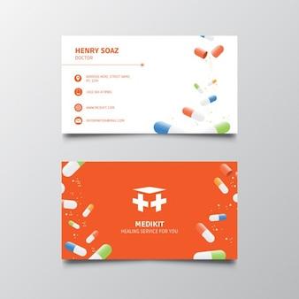 Business card for medical services