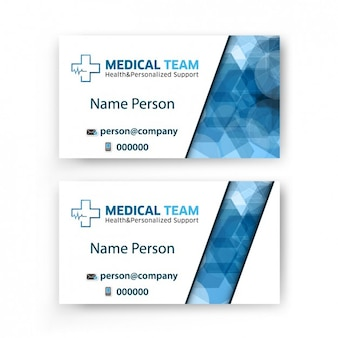 Business card of medical team