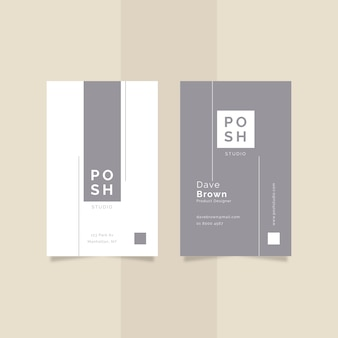 Business card minimal design