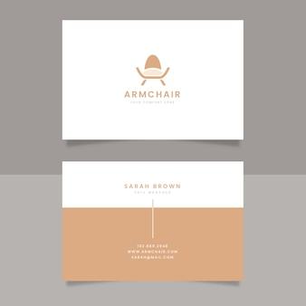 Business card minimalist armchair company