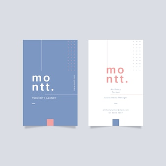 Business card minimalist design