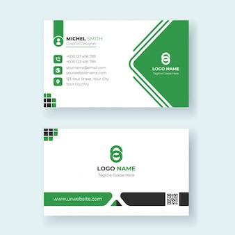 Шаблон для печати визитной карточки в современном дизайне premium векторы