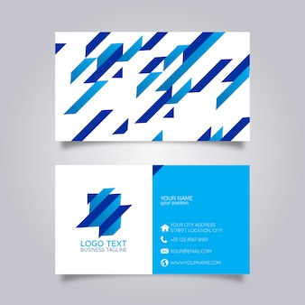 Business card modern geometric