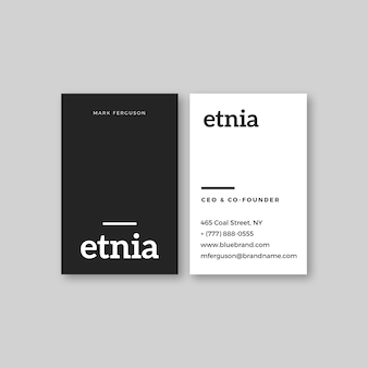 Business card monochromatic