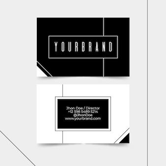 Business card monochrome theme