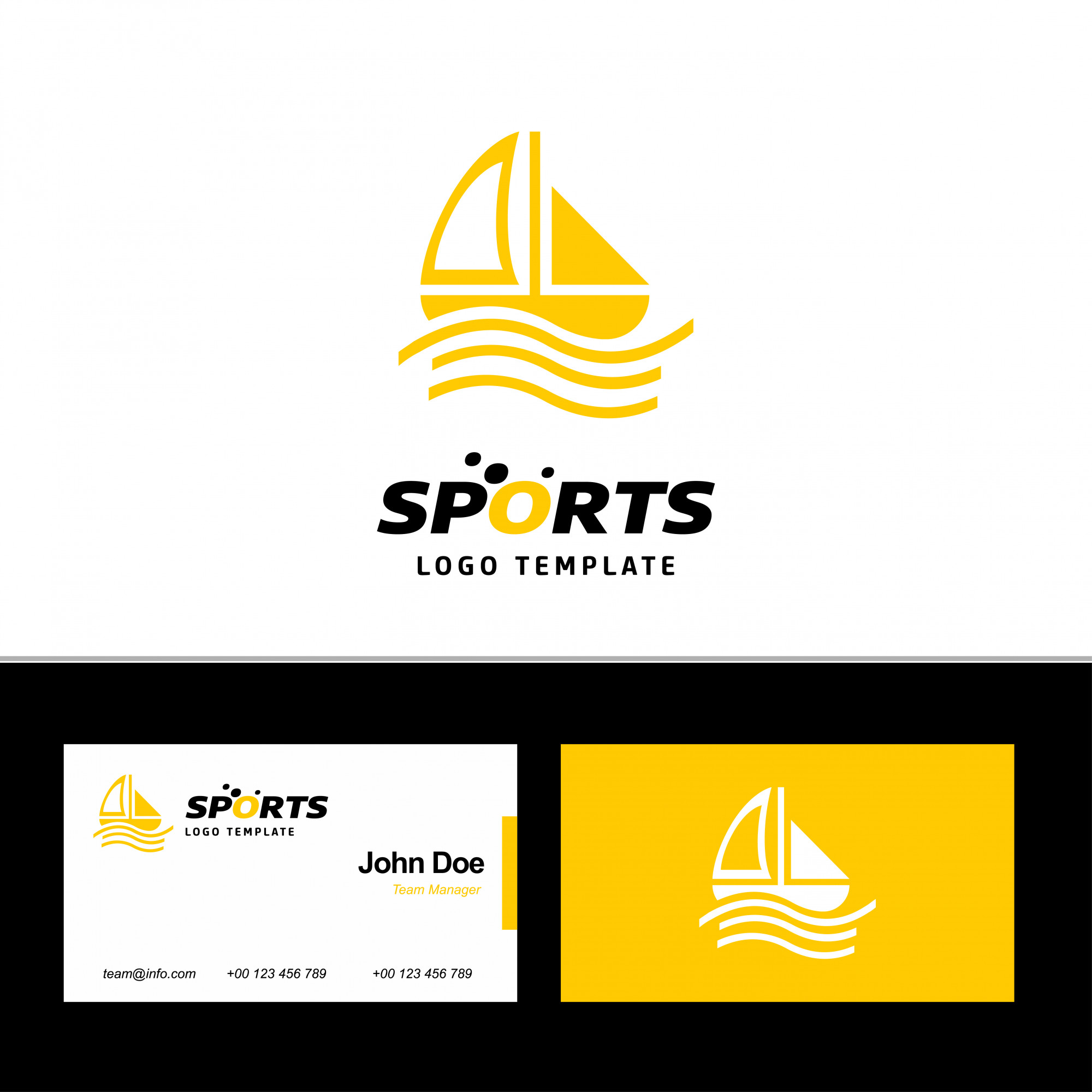 Business card of sports
