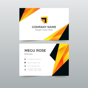 Business card pack abstract template