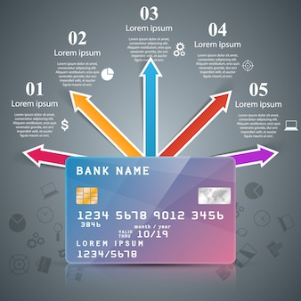 Business card - paper infographic.