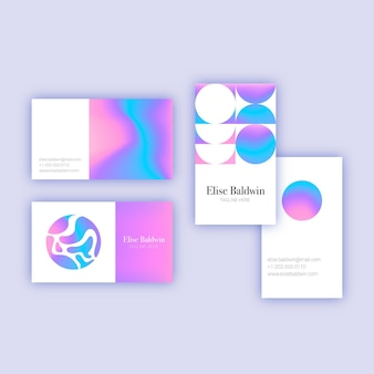 Business card in pastel color