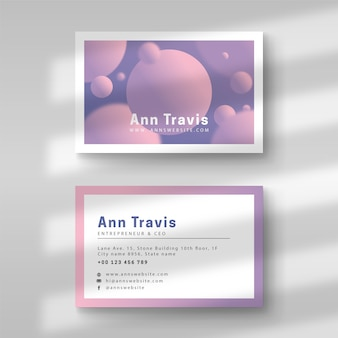 Business card pastel gradient