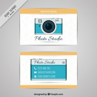 Business card of photo studio