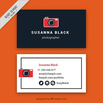 Business card for photograph