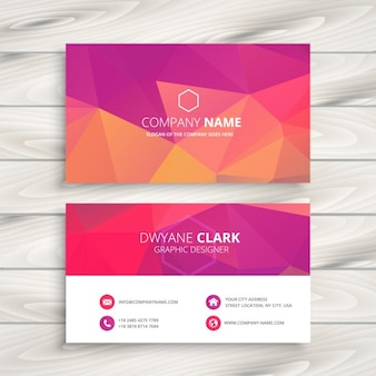 Business card in pink