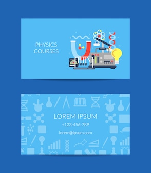 Business card for science lab or courses