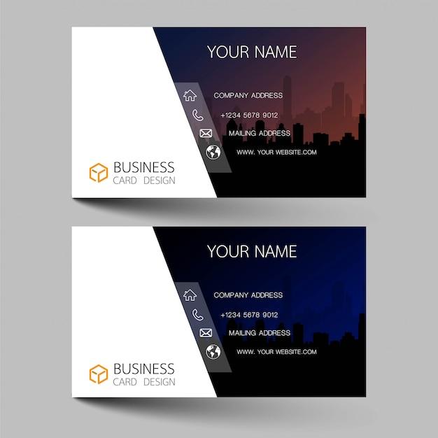 Business card set design