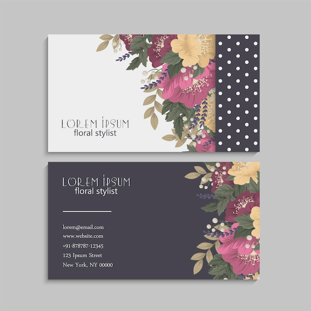 Business card set. v