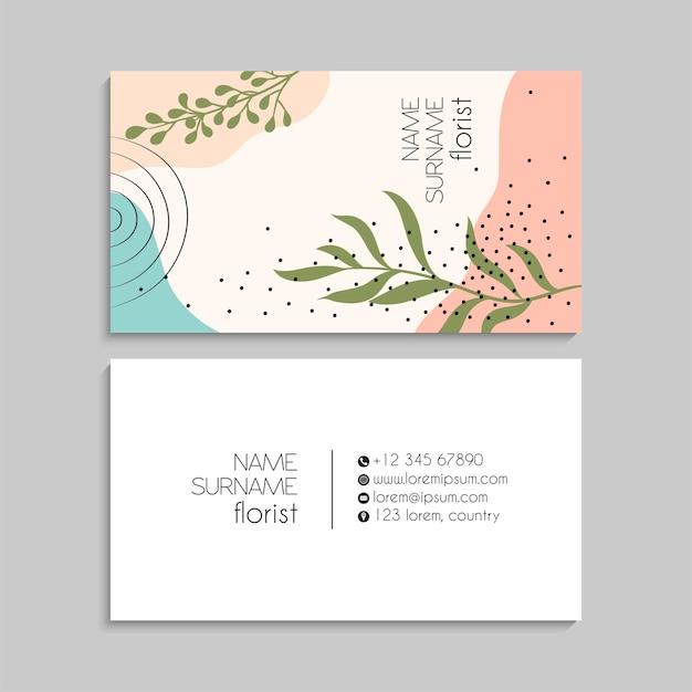 Набор визитных карточек. векторная иллюстрация. eps10
