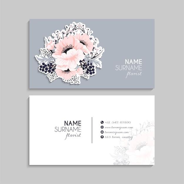 Business card set.