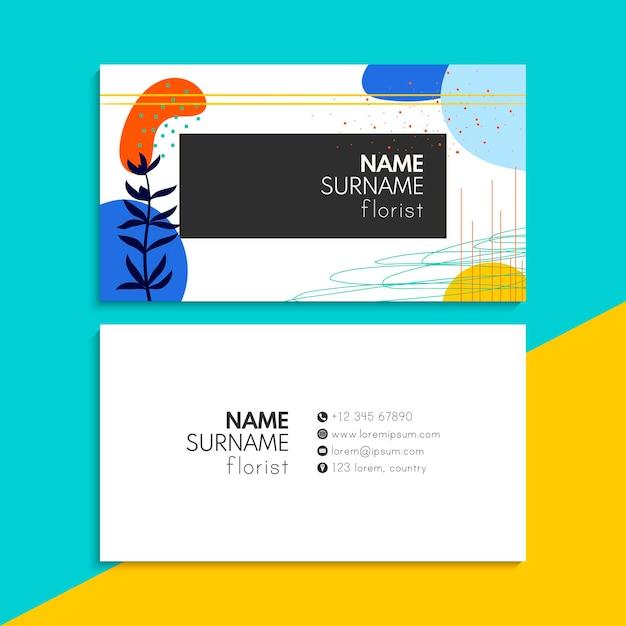 Набор визитных карточек