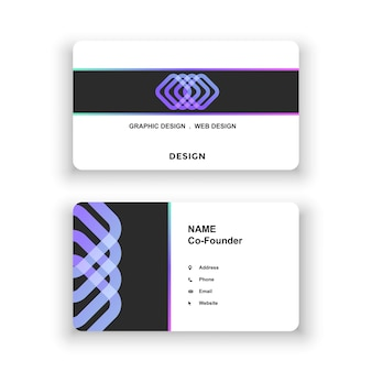Визитная карточка простой дизайн логотипа шаблон оформления документа для офисной компании