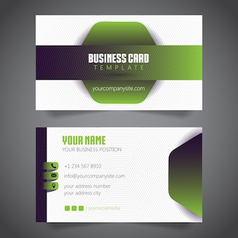 Business card simple minimalist. vector template.