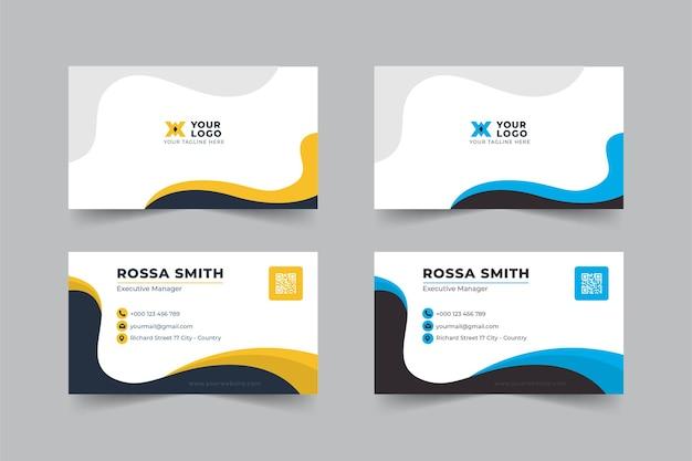 Business card social media post template