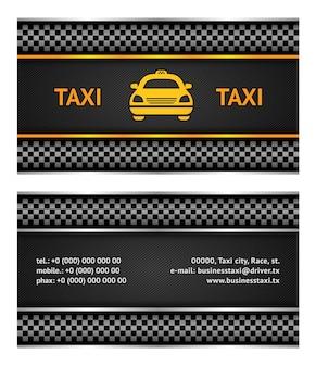 Business card taxi cab