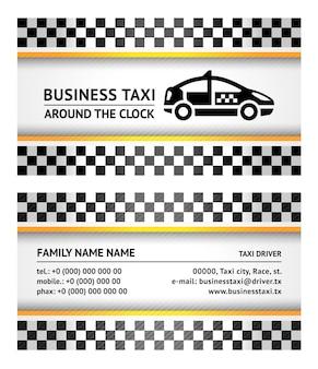 Визитная карточка - такси, вектор шаблон 10eps   Премиум ...