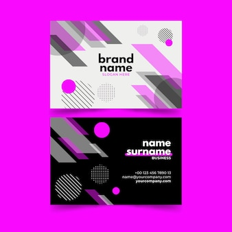 Business card template abstract collection